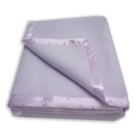 American Baby Company Nordic Fleece Crib  Blanket Full size with Satin Trim, Lavender
