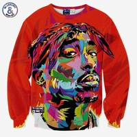 Hip hop 3d sweatshirt  Tupac 2pac hoodies long sleeve