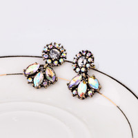 Good quality SALE NEW 2014 Vintage Jewelry Crystal Stud Earring For Women statement earrings Christmas Gift 19