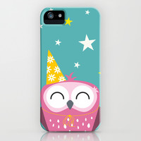 Party Owl iPhone & iPod Case by Lisa Marie Robinson