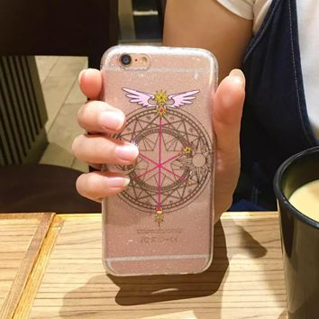 High quality Comics Sailor Moon Sticks Soft Clear TPU Phone Case Coque Fundas For iPhone 7 7Plus 6 6S 6Plus