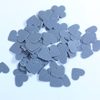 Little Gray Cardstock Hearts: 25, 100, 250, 500 - paper, Scrapbook Embellishment, Cardmaking supplies, 1/2 inch, disney table scatter