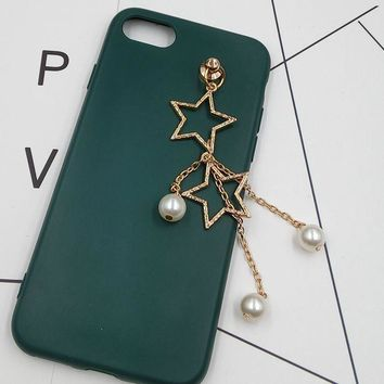 3D Alloy Stickers for Phone Imitation Pearl Hanging Charms/Ornament/Adornment/Trim/twinket/Decoration mobiele telefoon decoratie