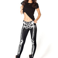 Leggings in Bone Print
