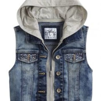 2fer Denim Vest | Girls Outerwear Sale & Clearance | Shop Justice