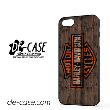 Harley Davidson On Wood For Iphone 5 Iphone 5S Case Phone Case Gift Present