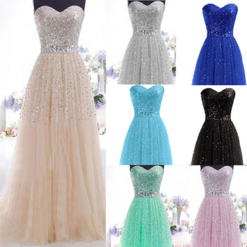 New Elegant Long Formal Bridesmaid Party Evening Dresses Cocktail Prom Ballgowns
