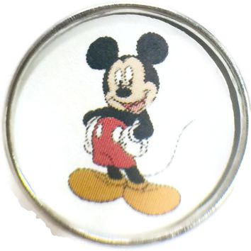 Disney Mickey Mouse 18MM - 20MM Fashion Snap Jewelry Snap Charm New Item
