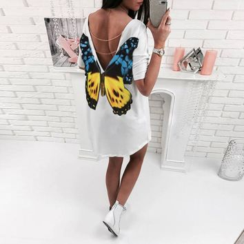 Magnetic Butterfly Print Blouse