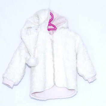 Girls sweat jacket white, Hoodie, Girls Hoodie, baby girl hoodie,  Girls jacket, organic cotton hoodie