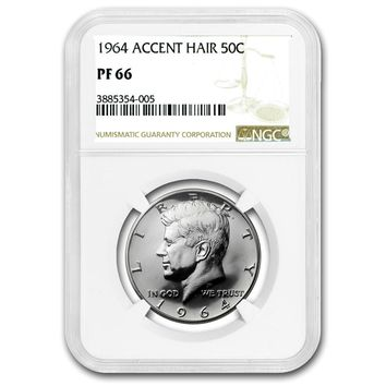 1964 Kennedy Half Dollar PF-66 NGC (Accented Hair)
