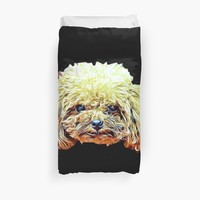 'Toy Poodle' Duvet Cover by ritmoboxers