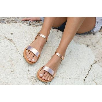 Sandals,Greek sandals,Ankle strap sandals,Leather sandals,Elegant sandals,Flat sandals,Women shoes