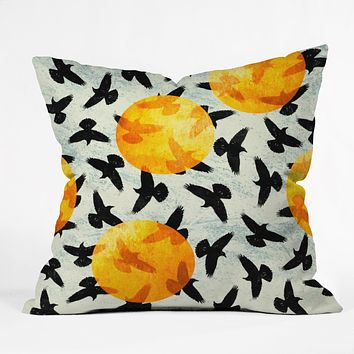 Elisabeth Fredriksson Birds I Throw Pillow