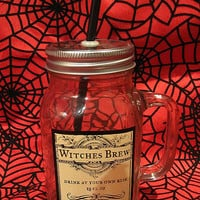 Witches Brew Mason Drinking Jar