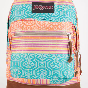 Jansport Right Pack World Backpack Fluorescent Red Golden Summer One Size For Men 26835695701