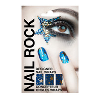 Buy Nail Rock Designer Nail Wraps - Gold Stars On Metallic Blue - Nail Sets - Online Shopping for Canadians