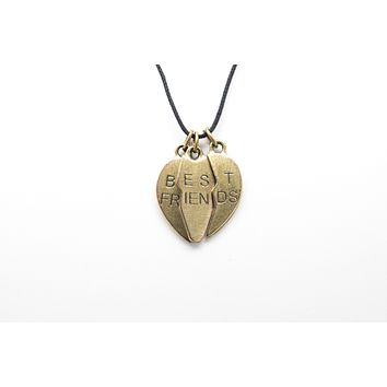 Best Friends BFF Unisex Necklace with Rope