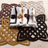 """Rope Gate"" Place Mats, Napkins, and Napkin Rings - Horchow"