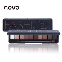 Hot Sale Eye Shadow Palette Natural Fashion Make Up Light 10 Colors Eye Makeup Shimmer Matte Eyeshadow Cosmetics Set With Brush
