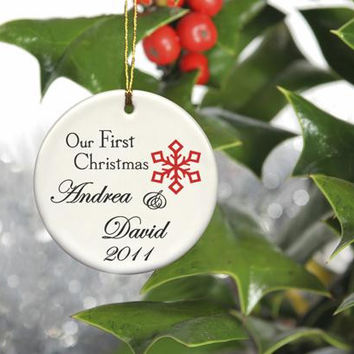 Our First Christmas Ornament Style 4