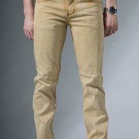 {electric kool-aid} Acid-Washed Skinny-Slim Denim in Colonel Mustard