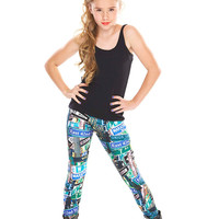 Girls Street Signs Leggings