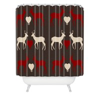 Natt Red Love Shower Curtain