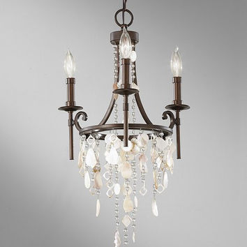 Feiss Cascade Chandelier - F2662-3HTBZ