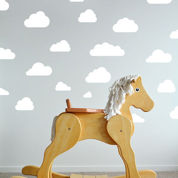 Cloud Wall Decal / Clouds Decal / cloud sticker / Kids wall decoration / baby room decal / nursery decoration