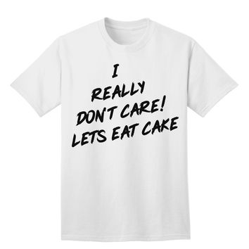 Funny Melania Satire Let Them Eat Cake Adult T-Shirt by TooLoud