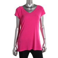 Ideology Womens V-Neck Heathered T-Shirt