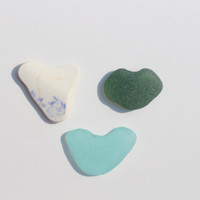 Cute Sea Glass Hearts Beach Glass Hearts Pottery Heart