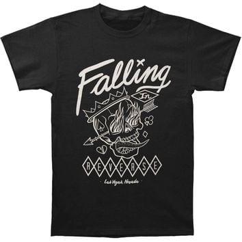 Falling In Reverse Men's  Flame Skull T-shirt Black