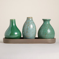 Cool Mini Vases with Tray - World Market