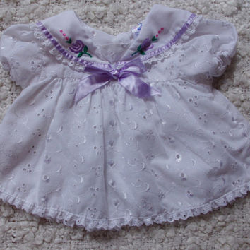 vintage baby dresses/vintsge baby clothes/eyelet baby dresses/3-6 months/baby girl/