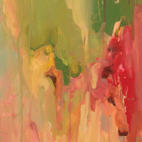 Awash with Red and Green | Canvas Wall Art