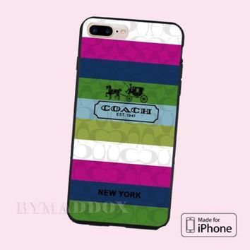 Best New Hot Coach Rainbow New York Print On CASE Cover iPhone 6s/6s+/7/7+/8/8+