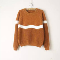 Stripe Long-Sleeve Pullover Shirt