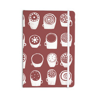 "Alik Arzoumanian ""Coffee Ring"" Maroon White Everything Notebook"
