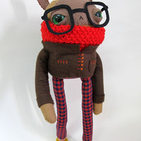 Wintery Nerd Rabbit: Made to Order