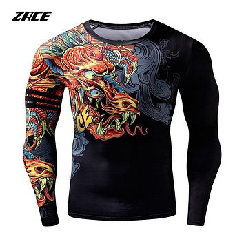 Costume Cosplay Funny T Shirts Chinese Style Dragon 3d T Shirt Fashion Hip Hop Party Brand Clothing Men Plus Fitness Clothing