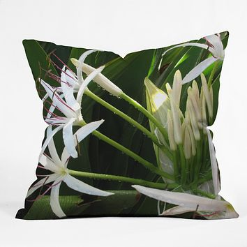 Deb Haugen spider lily Throw Pillow