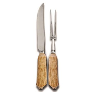 Natural Antler Carving Set - Large Size