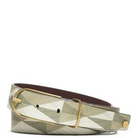 Tory Burch Printed Leather Belt