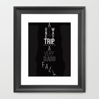 Percy Jackson - A one-way trip. A very hard fall. Framed Art Print by jaylcee