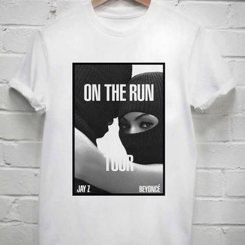 Custom Tshirt beyonce on the run tour screenprint