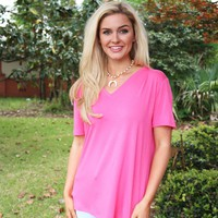 Made For You PIKO Top In Fuscia