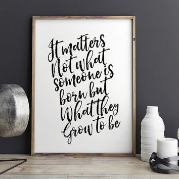 HARRY POTTER QUOTE,Inspirational Quote,Motivational Print,Harry Potter Baby,Kids Room Decor,Nursery Decor,Children Print,Quote Print,Home