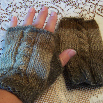 Gloves Wool Fingerless Brown Tan FREE SHIPPING smart phone tablet Gloves Winter Fashion Holiday Gift Stocking Stuffer